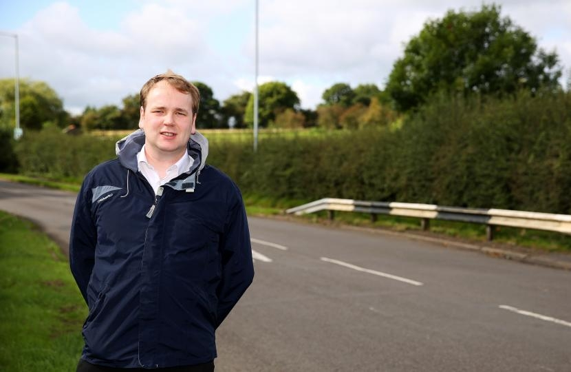 4,000 New Houses? - William Wragg at the site of the proposes High Lane development