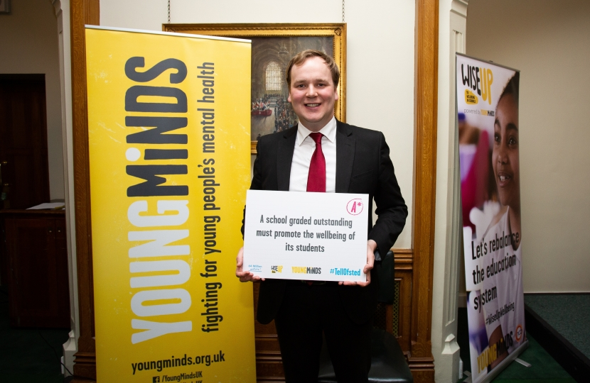 William Wragg MP at Young Minds Mental Health