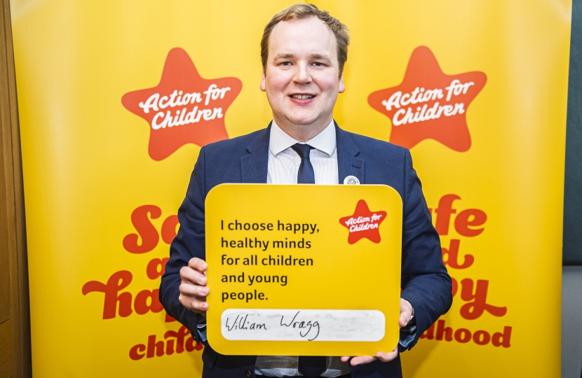 William leads on improving children's mental health